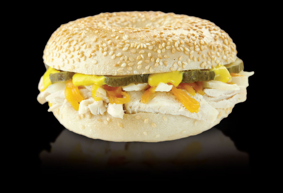 Chicken Philly bagel